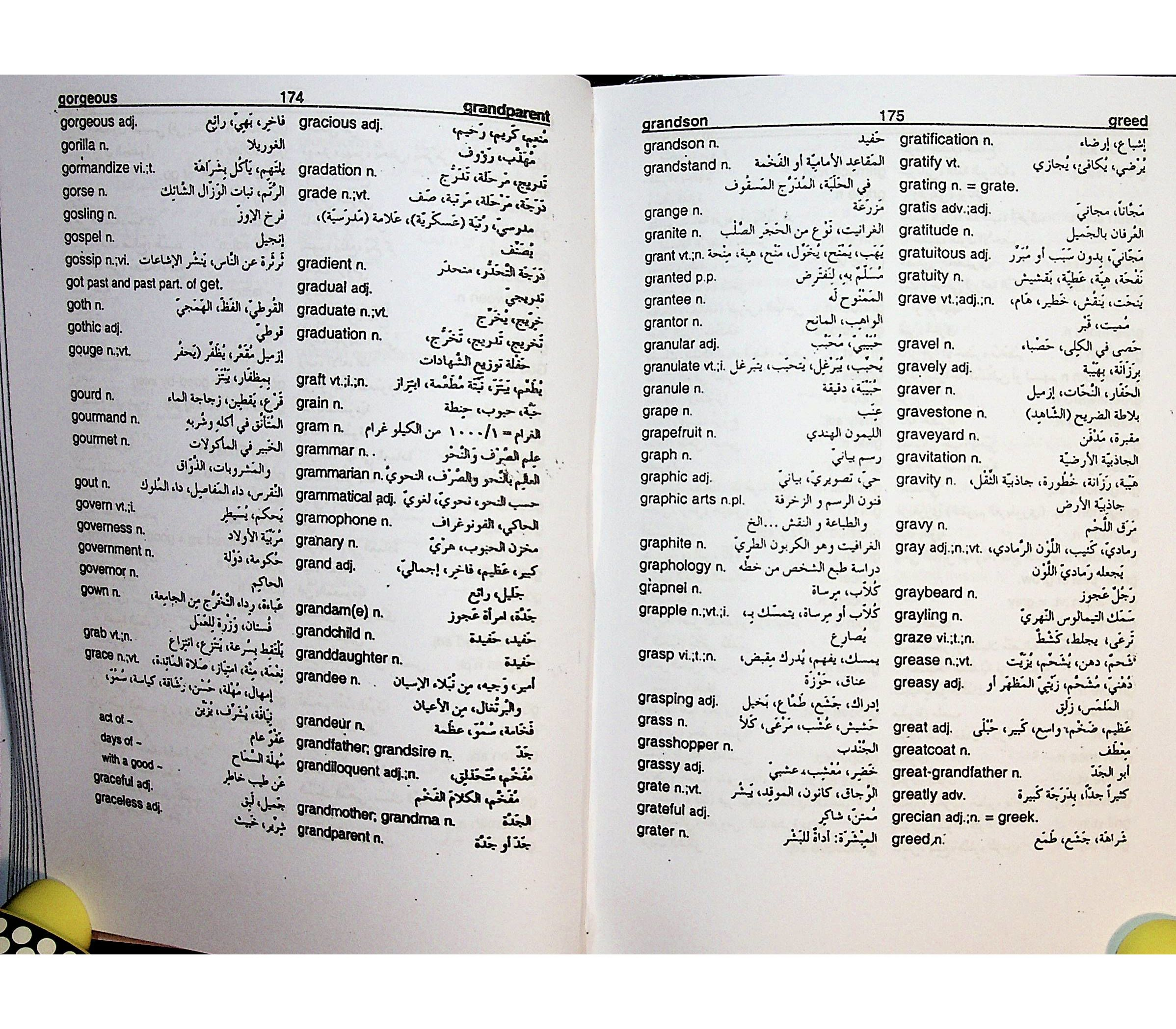 a dictionary arabic to english