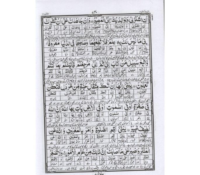 Asan Urdu Tarjuma Quran 30 para Set Shah Rafiuddin (Code 83/30)