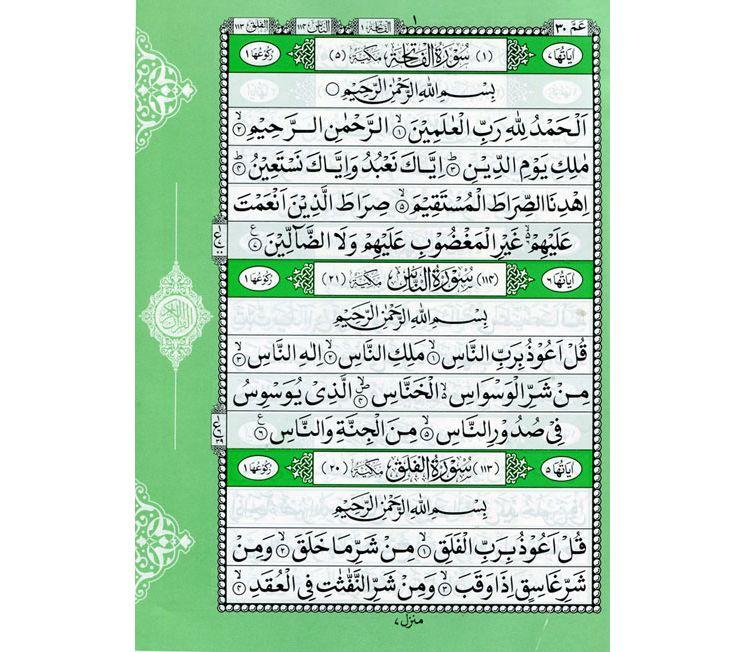 List of surahs in amma para pdf